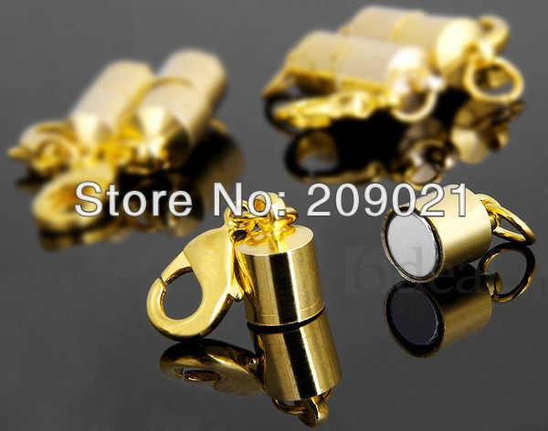 Free Shipping 50set Gold Plated Magnetic Necklace Clasp Converter(China (Mainland))