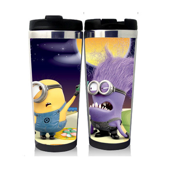 High Quality Despicable Me / Minions garrafa termica inox cute coffee thermos bottle for chirldren winer / umter vacuum flask(China (Mainland))