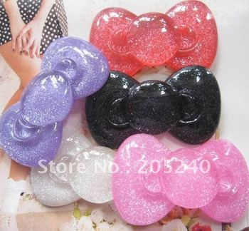 free shipping! flat back resin cabochons 20pcs(5colors mixed 58*34mm big size)