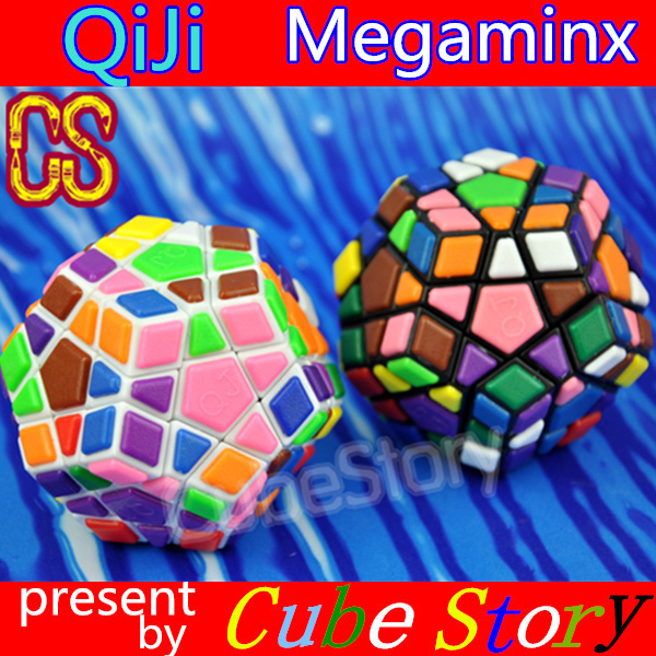 [QJ] Megaminx Plastic Sheet Magic cube Pentagon 12 Side speed cube(China (Mainland))