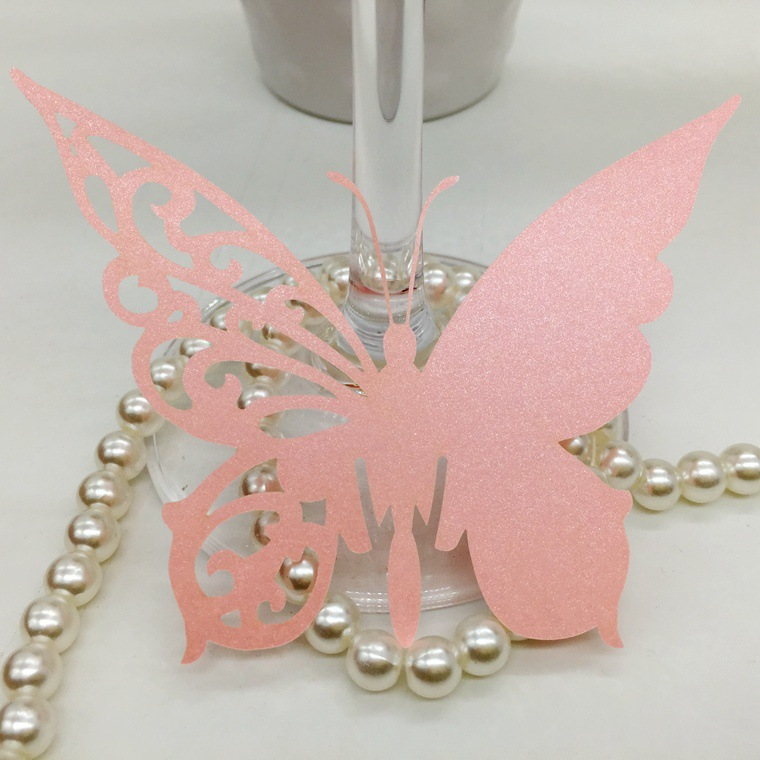 DIY Butterfly Cups Cards Paper Butterfly Cups Cards Wedding Name/Place/Cups Cards Guest Seat Card Party Shower Decoration 5SH054(China (Mainland))