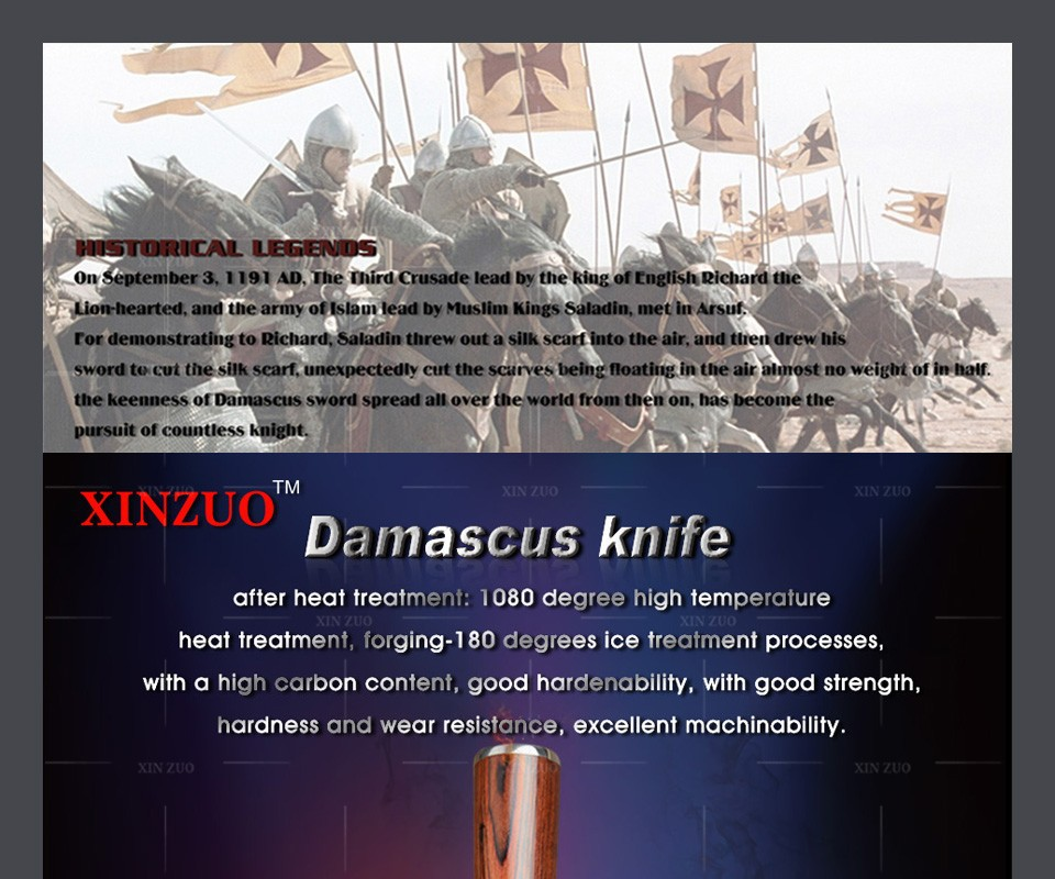 """Buy 8"""" inch chef knife Japanese VG-10&73 layers Damascus steel kitchen knife prefessional cook knife Color wood handle free shipping cheap"""