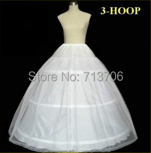 Real Photo Hot Sale 50% off 3 HOOP Ball Gown Bone Full Crinoline Petticoat Wedding Skirt Slip New H-3 Fast Shipping(China (Mainland))