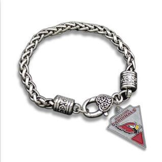 10pcs unsex couple fashion Jewelry NFL Arizona Cardinals team logo Super Bowl Alloy Drip sports fan men Crude Retro Bracelets(China (Mainland))