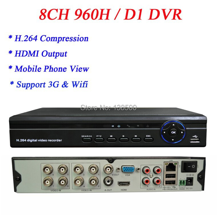 Wholesale Hot Selling 8channel 8ch 960H D1 HDMI 1080P Output Realtime DVR Recorder CCTV security System<br><br>Aliexpress