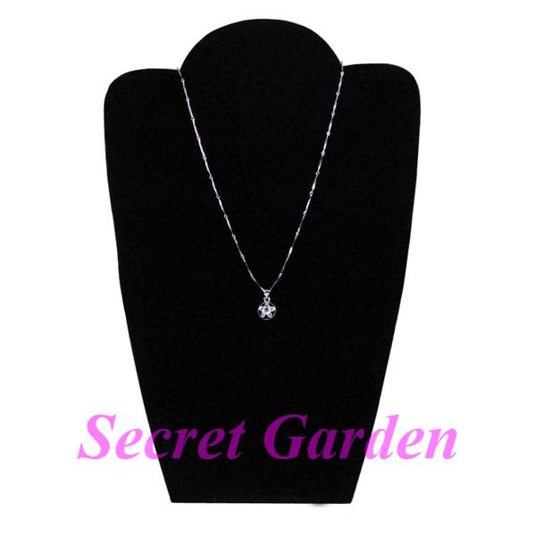 Wholesale 2 Velvet Black Necklace Pendant Jewelry Display Stand Board Factory(China (Mainland))