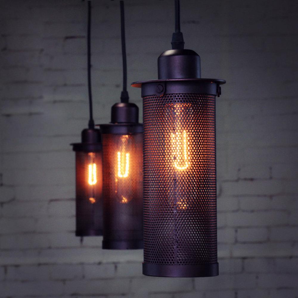 Industrial Pendente De Teto Pendant Light Nordic Art Craft Pendant Lamp Ceiling Lamps Hanging Light Bar Loft Lighting<br><br>Aliexpress