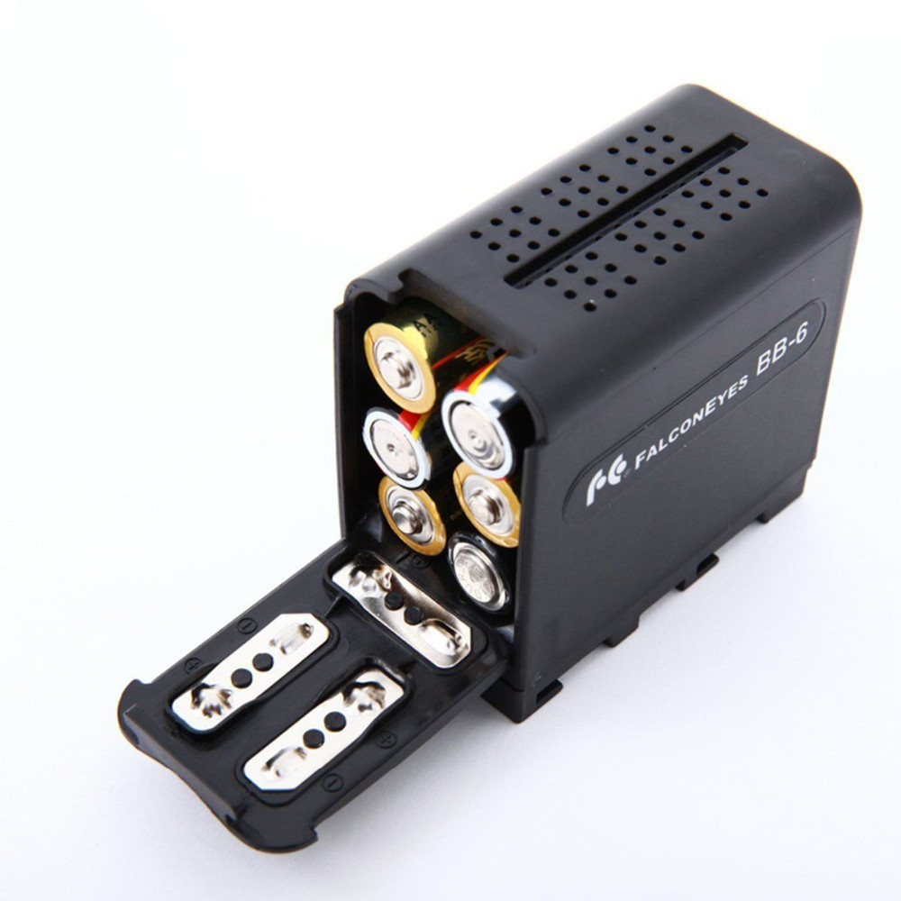 image for 6pcs AA Battery Case Pack Power As NP-F970 For LED VIDEO LIGHT Panels