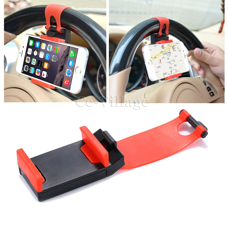Universal Car Steering Wheel Bracket Holder Rubber Band for HTC 10 One A9 X9 M9+ M9 M8 M8S Desire 828 700 626 620 616 516 Eye(China (Mainland))