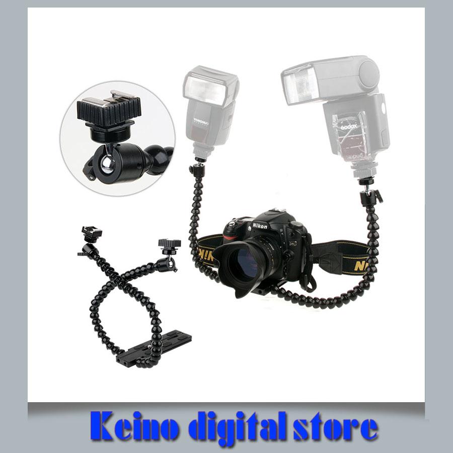 Photo Flash Accessories Camera DSLR Twin DUAL ARM Macro Flash Bracket for all Flashgun Flashes Camaras Fotograficas(China (Mainland))