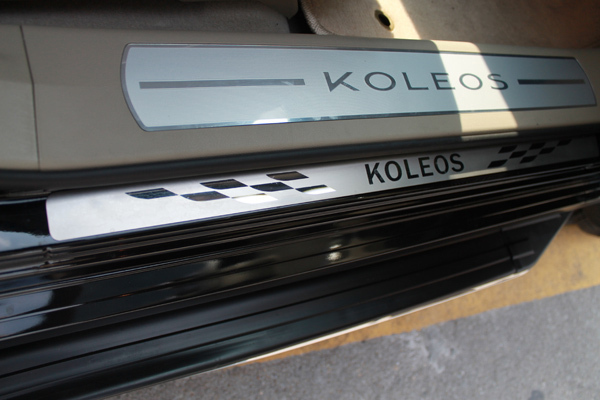 Free shipping 2009-2013 Renault Koleos High quality PVC internal Scuff Plate/Door Sill(China (Mainland))
