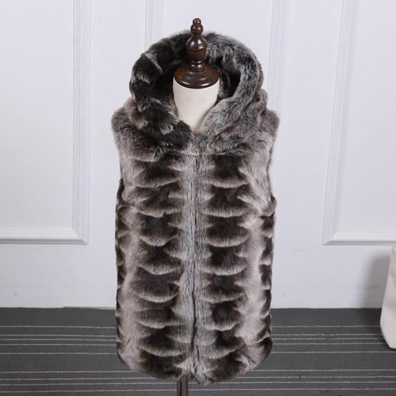 Скидки на 2016 детская одежда мальчик и девочка пушистый пальто дети искусственного меха жилет детская зимняя мода меха с капюшоном жилет 000156