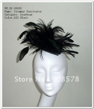 Fascinator Sinamay Base With Feather hat  BY-10101 30pcs/lot