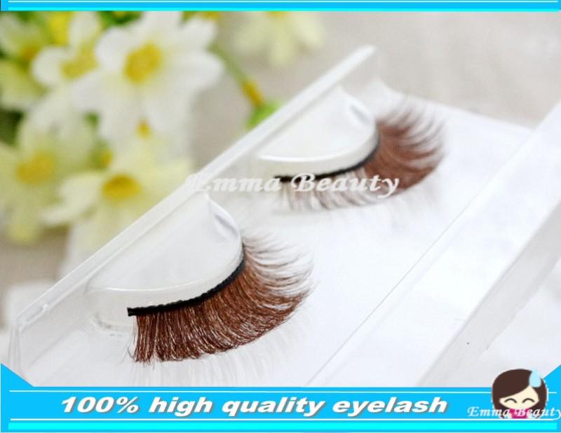 30 Pair/Lot Natural Mink Eyelash False Eyelashes extension Lashes Voluminous fake Makeup Tail Winged eyelashes(China (Mainland))