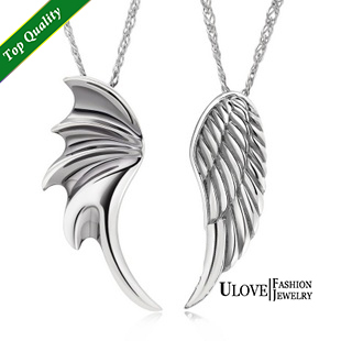 2015 Feather Pendant Jewelry Necklace Feather Trendy Necklaces 925 Sterling Silver Valentine's Day Gift Couple Necklace N328(China (Mainland))