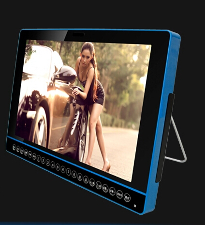 25 inch led tv with big touchscreen link set top box support DVD with 5000 ma 18650 battery MP4 MP5 portable media player(China (Mainland))