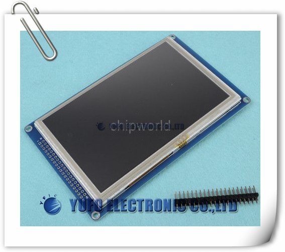 """Free Shipping One Lot 5"""" TFT LCD Module Display + PCB Adapter + Touch Panel Screen TFT LCD(China (Mainland))"""