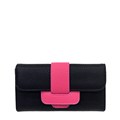 2016 New Contrast Color Long Wallet Women Fashion Litchi Stria Color matching Purse Occident Style Designer