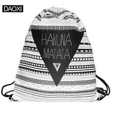 2015 new fashion escolar travel  backpack 3d print softback man women mochila feminina harajuku drawstring bag