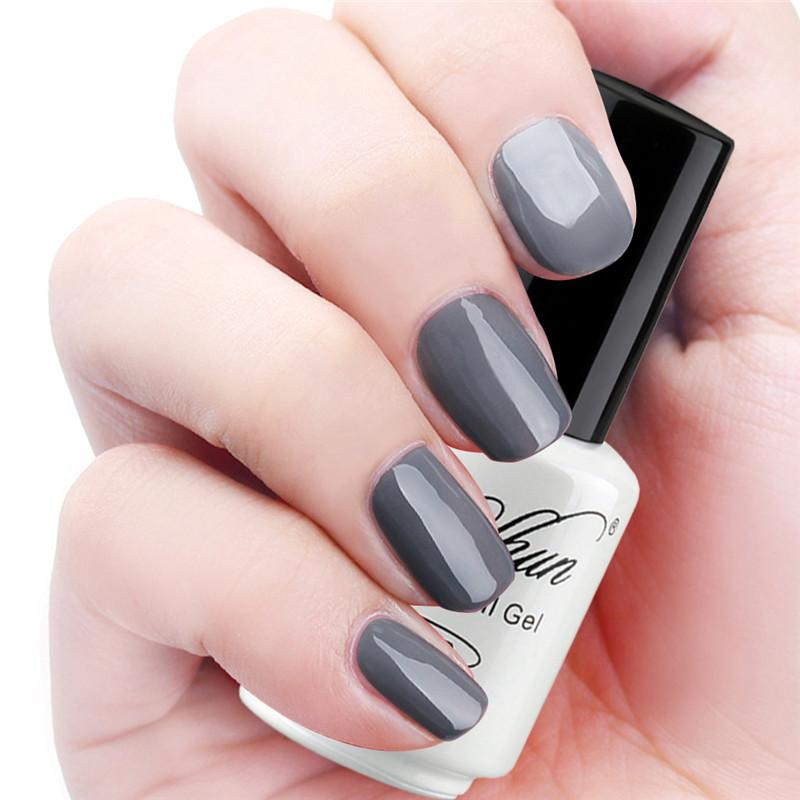 Yaoshun Classic Gray Gel Nail Polish 8ml UV Soak Off DIY