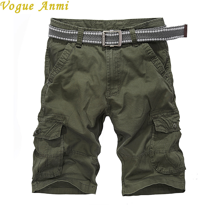 2016 brand men's casual loose cargo shorts men large size multi-pocket military short pants overalls 3 colors - Vogue Anmi Mens Garments Store store
