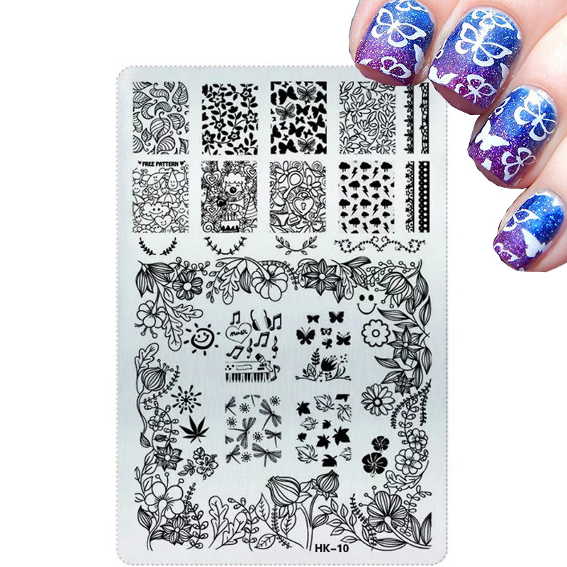 All For Nails Seals And Stamps Useful Things Fashion Butterfly Words Airbrush Nail Stencil Nail Tools Nail Stamping Plates(China (Mainland))