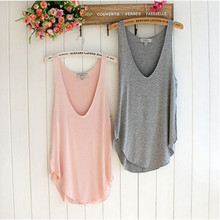 Attractive Fashion Summer Woman Lady Sleeveless V-Neck Candy Vest Loose Tank Tops T-shirt May 25