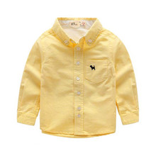 boys casual clothes 2016 Spring New Arrival Kids Clothes Brand boys Blouse Children's Fashion Long-sleeved Cotton boys shirt(China)
