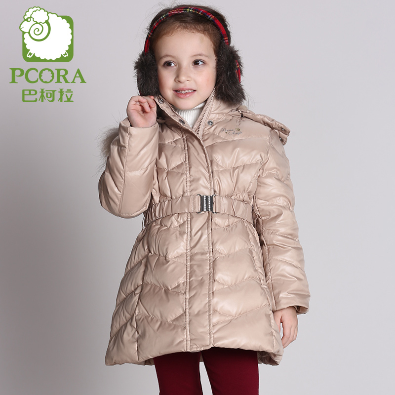 Фотография PCORA High Quality Kids Winter Parka Girls Outerwear Down Coat Thick Fashion/Keep Warm Kids Clothes Baby Girl Winter Outwear