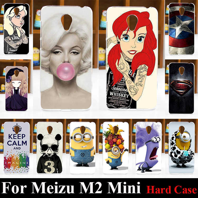 For Meizu M2 Mini Case Hard Plastic Mobile Phone Cover Case DIY Color Paitn Cellphone Bag Shell Shipping Free(China (Mainland))