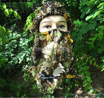 3D Camouflage Camo Headgear Balaclava Face Mask for Hunting Fishing Adjustable Free Shipping