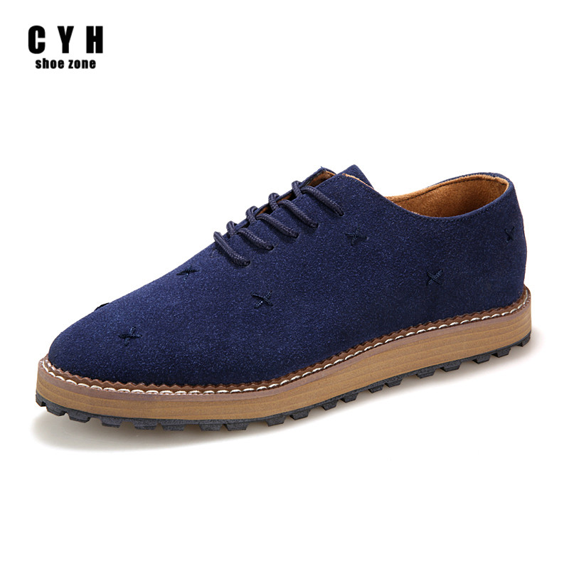 2015 Men Designer Shoes For Mens Luxury Brand Casual Shoes Nubuck PU Leather Breathable Lace Up Flats Low Solid Black Blue Shoe<br><br>Aliexpress