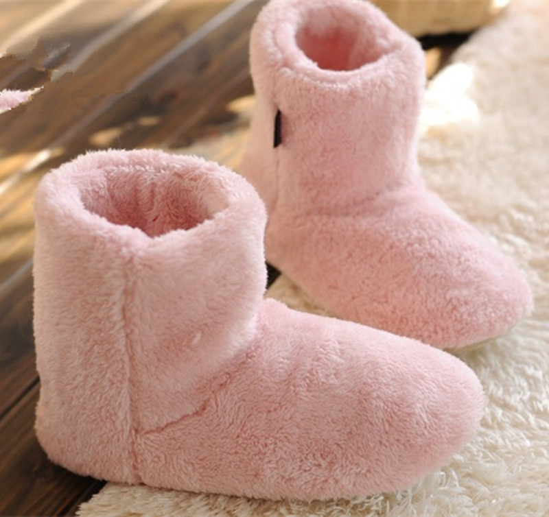 Free Shipping Winter New Male Female Couple Cotton Shoes Simple Plush Warm Indoor Boots Non-slip Soft Bottom Shoes Home Floor(China (Mainland))