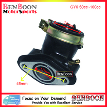GY6 50cc Engine Parts Carburetor Intake Manifold 139QMB Chinese Scooter Parts ATV Part Znen Baotian Taotao, Free Shipping