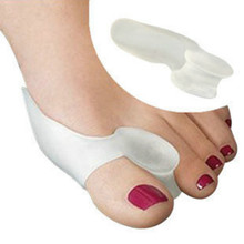 Ectropion Toes outer Appliance 1pair=2pcs Hot Soft Beetle-crusher Bone Gel Silica Toes Separation Health Care Products