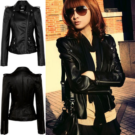 Black Leather Jacket For Girls - Jacket