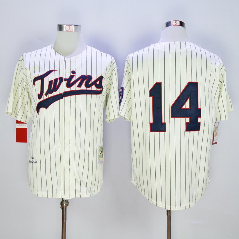 New 1969 Throwback Minnesota Twins Jersey 14 Kent Hrbek baseball jersey<br><br>Aliexpress
