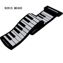 49 Key Flexible Silicon Roll Up Piano Silicon Preliminary Electronic Training Tool Professional Musicial Instrument KONIX MD49S(China (Mainland))