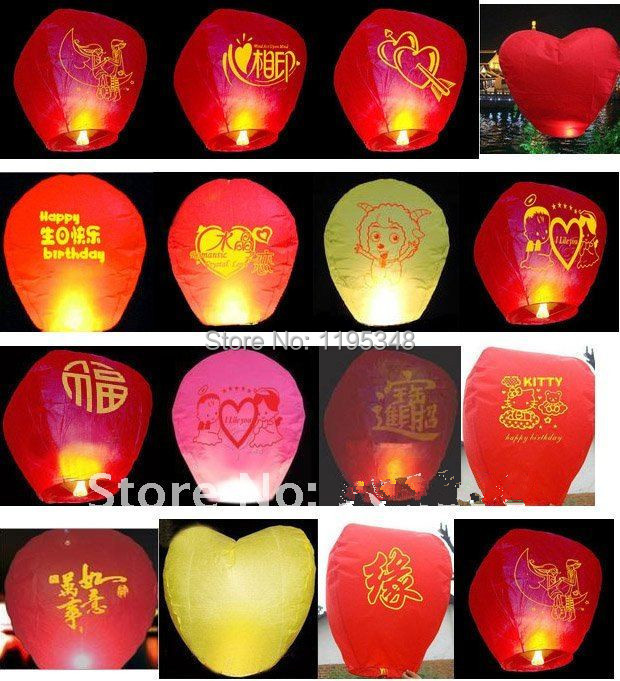 30 pcs pure color High quality flying paper sky lanterns Manufacturer selling flying paper sky lanterns Wish gift flying lantern(China (Mainland))