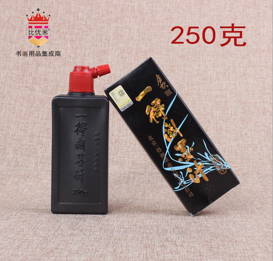 Гаджет  250g Calligraphy Brush ink  for Woolen & Weasel hair Writing Brush Chinese black Painting ink Calligraphy ink drawing set None Офисные и Школьные принадлежности