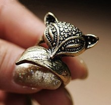The influx of people retro fashion ring enchanting cute little fox 0099(China (Mainland))
