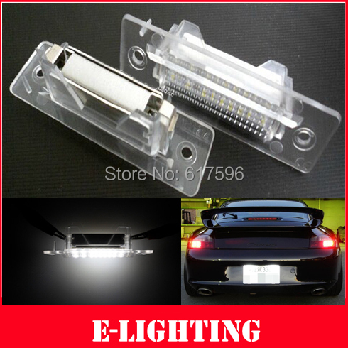 2xLED License Plate Light OEM Replacement Kit for Porsche 993 996 986 911 Carrera turbo GT Boxster 968(China (Mainland))