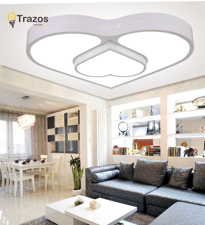 sweet heart led ceiling lights for living room romantic dining room light luminarias para sala de - Living Room Led Ceiling Lights