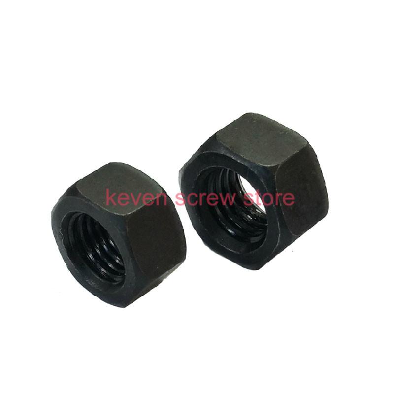 Free shipping 100pcs/Lot Metric Thread M3 Black Grade 8.8 Carbon Steel Hex Nut Hexagonal Nut Screw Nut(China (Mainland))