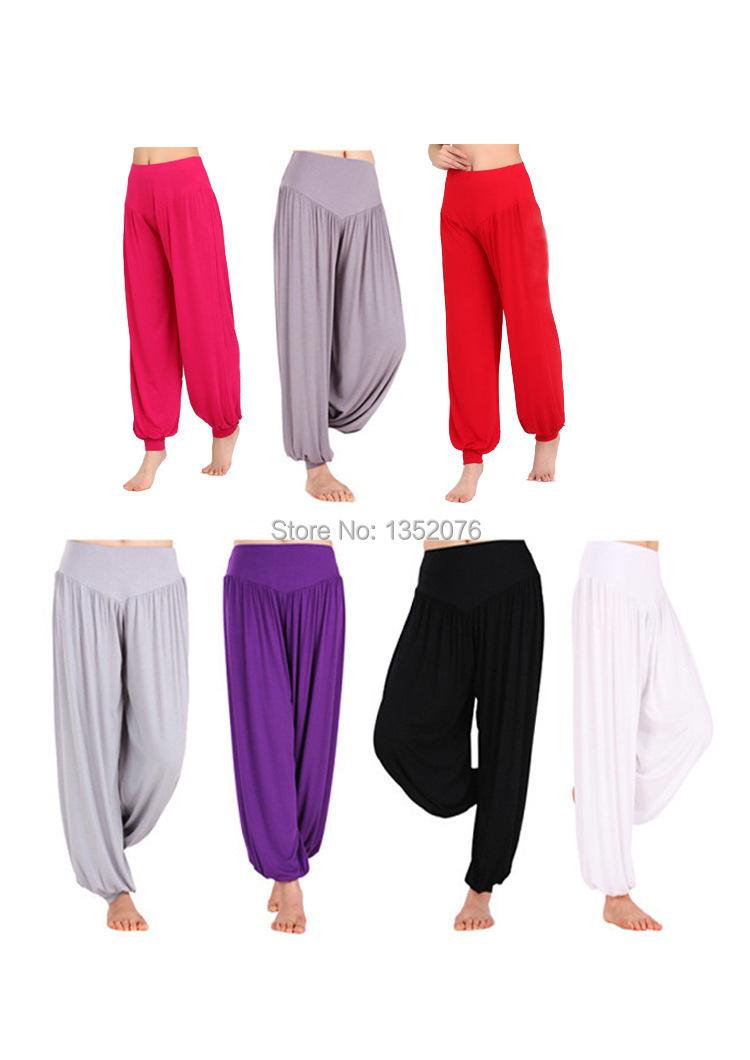 Women's Yoga Pants Loose Elastic Bloomers Dance Fitness Wide Leg Pants Long Harem Trousers Plus Sizes S-XXXL 9 Colors Available