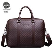 HOT 2015 New Designer Handbags 100%Leather Briefcase Business Shoulder Bags Men's Messenger Bag Large Capacity Travel Bag Totes(China (Mainland))