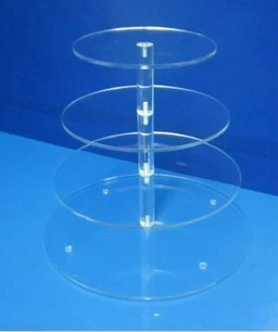 4 Tiers Wholesale Cake Stands Acrylic Wedding Cupcake Stand at Low Price(China (Mainland))