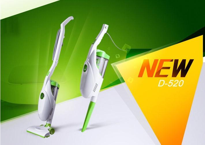 Hot sales 2015 New Ultra Quiet Mini Home Rod Vacuum Cleaner Portable Dust Collector Home Aspirator White&Green Color Puppy(China (Mainland))