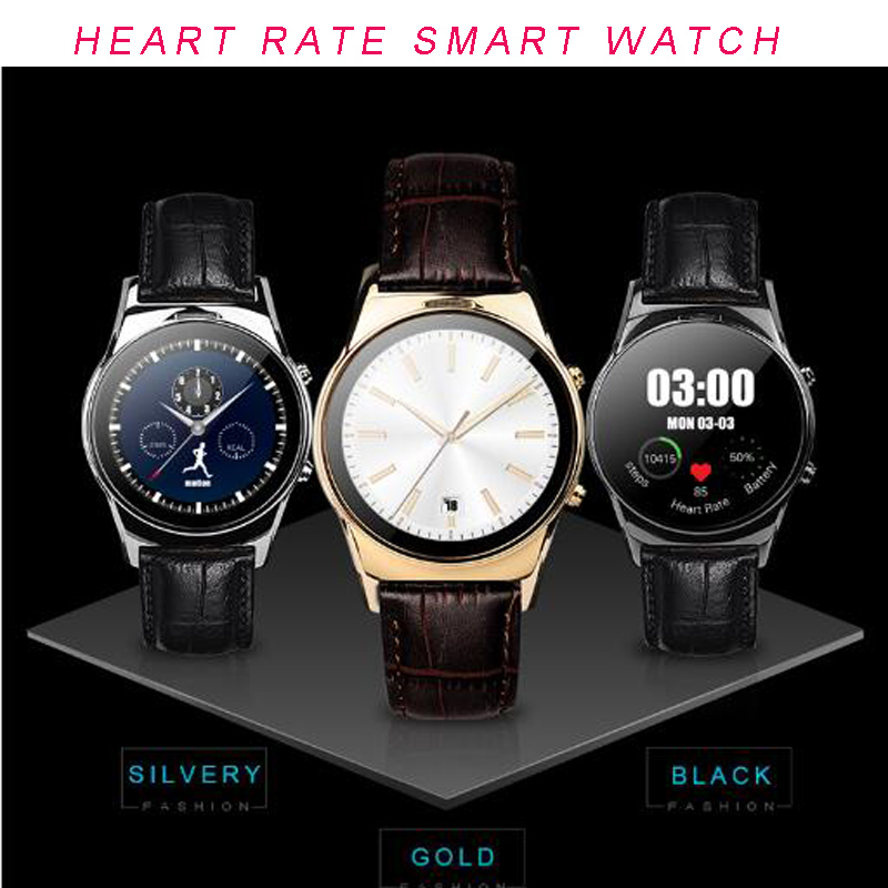 2016 Full HD Round Bluetooth Smart watch SIM Android ios Watch Digital Watch with Heart Rate Pedometer Remote Camera Smartwatch(China (Mainland))