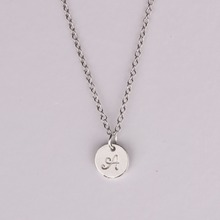 Simple Fashion Letter A  Necklaces Pendants  Letter name Initial chain Pendant letter Necklace fine jewelry YP2220(China (Mainland))